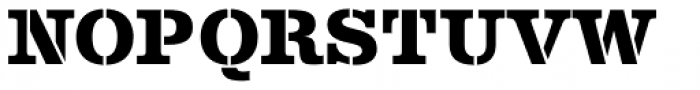 Albiona Heavy Stencil Font UPPERCASE