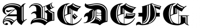 Albion's Incised Masthead Font UPPERCASE
