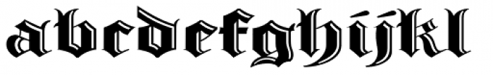 Albion's Incised Masthead Font LOWERCASE