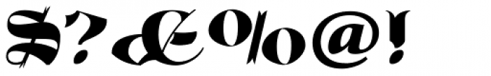 Albion's Old Masthead Font OTHER CHARS