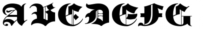 Albion's Old Masthead Font UPPERCASE