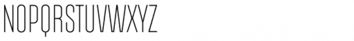 Albireo Condensed Extra Light Font UPPERCASE