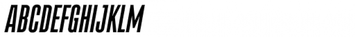 Albireo Extra Condensed Bold Italic Font UPPERCASE