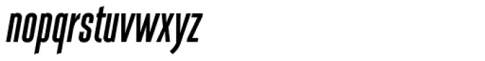 Albireo Extra Condensed Bold Italic Font LOWERCASE