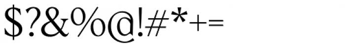 Albra Text Light Font OTHER CHARS