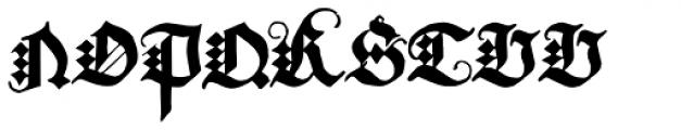 Albrecht Durer Gothic Font UPPERCASE