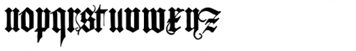 Albrecht Durer Gothic Font LOWERCASE