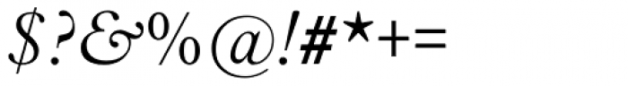 Aldine 721 Light Italic Font OTHER CHARS