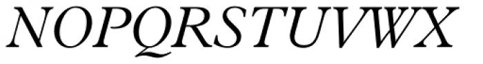 Aldine 721 Light Italic Font UPPERCASE