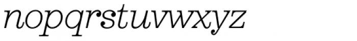Aldogizio Light Italic Font LOWERCASE
