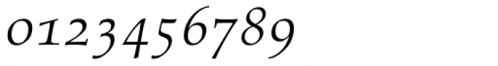 Aldus Italic Oldstyle Figures Font OTHER CHARS