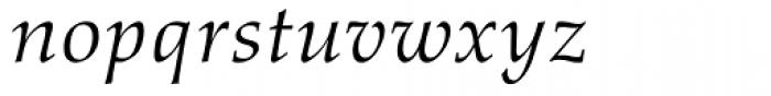 Aldus Italic Oldstyle Figures Font LOWERCASE