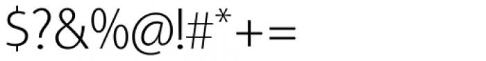 Aleante Sans Extra Light Font OTHER CHARS