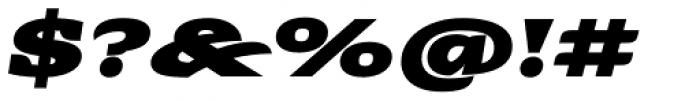 Alebrije Expanded Black Italic Font OTHER CHARS