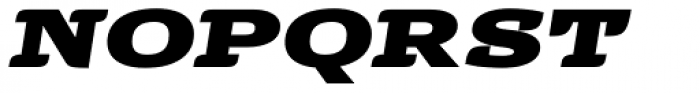 Alebrije Expanded Black Italic Font UPPERCASE