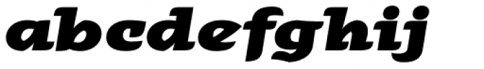 Alebrije Expanded Black Italic Font LOWERCASE