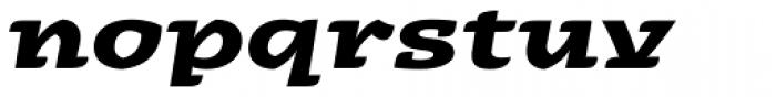 Alebrije Expanded Bold Italic Font LOWERCASE
