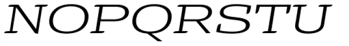 Alebrije Expanded Book Italic Font UPPERCASE