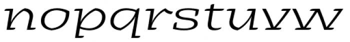 Alebrije Expanded Book Italic Font LOWERCASE