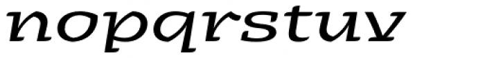 Alebrije Expanded Italic Font LOWERCASE