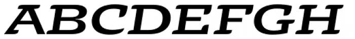 Alebrije Expanded Medium Italic Font UPPERCASE