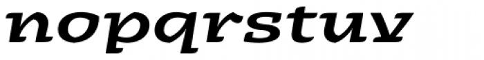 Alebrije Expanded Medium Italic Font LOWERCASE