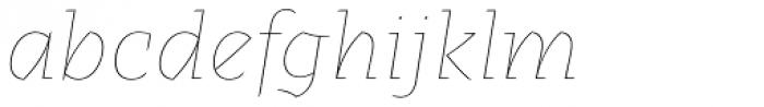Alebrije Hairline Italic Font LOWERCASE