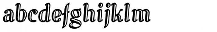 Alecko Engraved Font LOWERCASE