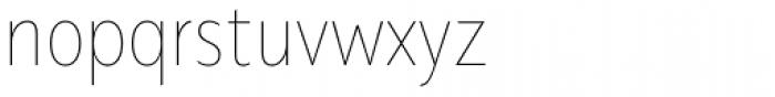 Alergia Grotesk Condensed Hairline Font LOWERCASE
