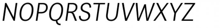 Alergia Grotesk Condensed Ultra Light Italic Font UPPERCASE