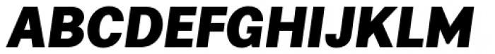 Alergia Grotesk Normal Blackitalic Font UPPERCASE
