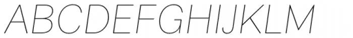 Alergia Grotesk Normal Hairline Italic Font UPPERCASE