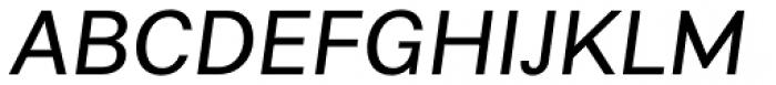 Alergia Grotesk Normal Italic Font UPPERCASE