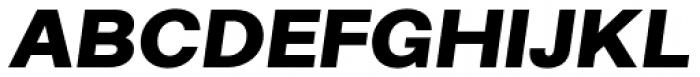 Alergia Grotesk Wide Blackitalic Font UPPERCASE