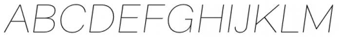 Alergia Grotesk Wide Hairline Italic Font UPPERCASE