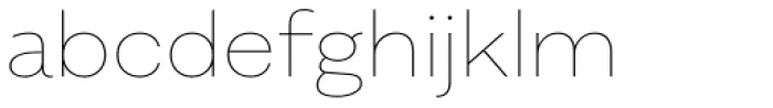 Alergia Grotesk Wide Hairline Font LOWERCASE