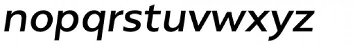 Alergia Grotesk Wide Medium Italic Font LOWERCASE
