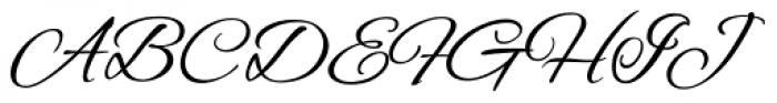 Alex Brush ROB Font UPPERCASE