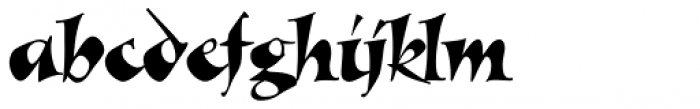 Alexia Classic Font LOWERCASE