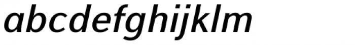Alfabetica Semi Bold Italic Font LOWERCASE
