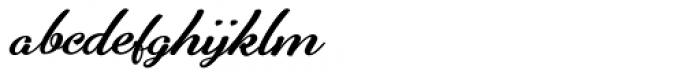 Alfons Brush Bold Font LOWERCASE