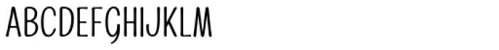 Alfons Condensed Regular Font LOWERCASE