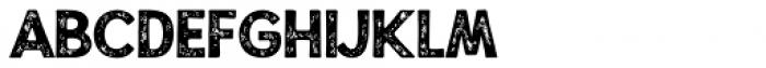 Alfons Display Black Print Font LOWERCASE