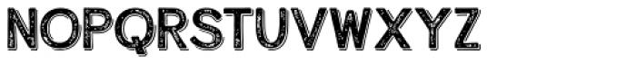 Alfons Display Regular Shadow Print Font LOWERCASE