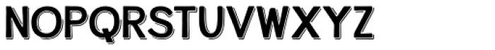 Alfons Display Regular Shadow Font LOWERCASE