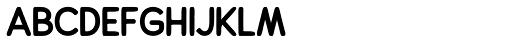 Alfons Sans Black Font LOWERCASE