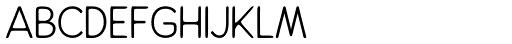 Alfons Sans Regular Font UPPERCASE