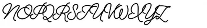 Alfons Script Bold Font UPPERCASE