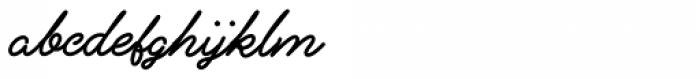 Alfons Script Extra Bold Font LOWERCASE