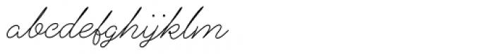 Alfons Script Light Font LOWERCASE